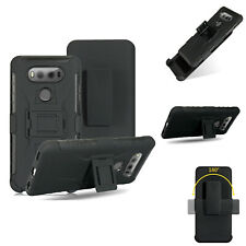 For LG G6, Shockproof Case w/ Belt Clip Anti-slip Armor Defender Grip Cover Skin