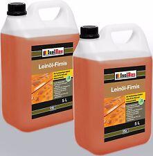 10 Liter Leinöl-Firnis Imprägnierung, Holzschutz doppelt  gekochtes Firnis