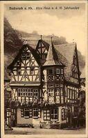 Bacharach am Rhein 1934 Gasthof altes Fachwerkhaus aus dem 16. Jahrhundert