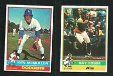 1976 TOPPS #566 KEN MCMULLEN - DODGERS - COMPLETE SET BREAK -SHARP CORNERS-   NM