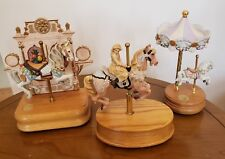 3 carousel horse / music boxes - Willitts