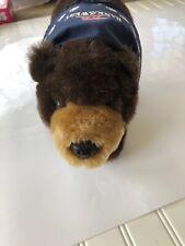 Bank Of The West Mascot Brown Bear Plush Standing Bandanna 14�