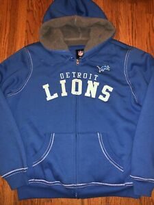 Detroit Lions NFL Football Jacket Team Apparel Wonens XXL New Tags Sherpa Hooded