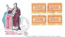 FDC Filagrano  - Italia Repubblica 1974 - Marco Terenzio Varrone - quartina NVG