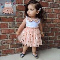 Toddler Baby Girls Kids Princess Dress Party Pageant Tulle Tutu Dresses Sundress