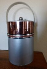 Lge. vintage Retro Silver/Copper foil colored Ice Bucket by Georges Briard Usa