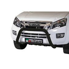 NOIR PARE BUFFLE pour Isuzu D-Max Double Cab 2012+ HOMOLOGUE INOX DIAMETRE 76