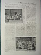 1900 VICTORIAN PRINT MISSIONARIES IN CHINA BLIND SCHOOL AT PEKIN WILLIAM MURRAY