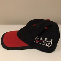 Vintage NIKE 90s Just Do It Cap Bred Black Red Swoosh