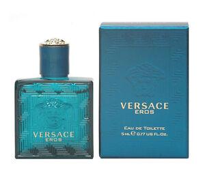 Versace Eros Men Mini Bottle 0.17 oz 5 ml Eau De Toilette Splash New in Box
