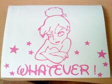 PINK TINKERBELL qualunque BITCH Fairy Dust Ragazze Girly VINILE Auto Adesivo Wall Art