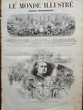 LE MONDE ILLUSTRE 1873 N 840 L' AMIRALCHARLES  RIGAULT DE GENOUILLY