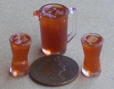 Échelle 1:12 carafe de Cassis jus & verres tumdee Maison de Poupées Miniature