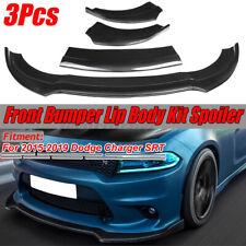 Carbon Fiber Front Bumper Lip Splitter Lower Spoiler For Dodge Charger SRT 15-19