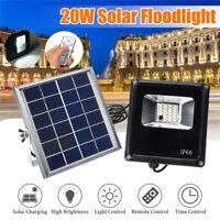 20W 20LED Flood Light Lampe Projecteur Solaire + Télécommande Jardin Éclairage