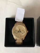 Disney Shanghai Gold Castle Mickey Ears Rhinestones Grand Opening Event Watch