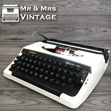 Serviced Brother Deluxe 220 White Typewriter working black Red ribbon vintage