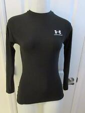 WOMENS UNDER ARMOUR BLACK LONG SLEEVE ATHLETIC TOP SIZE M