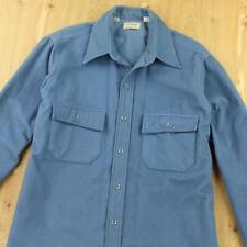 usa made LL BEAN chamois flannel shirt 16 / MEDIUM - LARGE distressed faded vtg