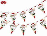 Santa Claus list presents Christmas Bunting Banner 15 flags by PARTY DECOR