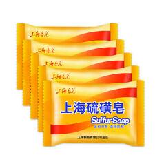 5Pcs Shanghai Sulfur Soap For Bathing Antifungal Bath Soaps Cleaning Soaps