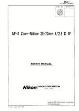 Nikon Nikkor AF-S 28-70mm f/2.8 D IF Service Repair Manual