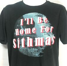 Star Wars T Shirt I'll BE HOME FOR SITHMAS Mad Engine Black Mens Large