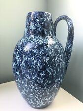 Superb Scheurich Keramik Floor Vase Mid Century Fat Lava West German Blue 279-38