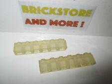 Lego 2x Brick brique 1x6 6x1 3009 Trans Clear Transparent Yellowed