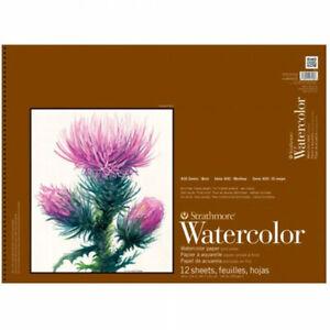 "Strathmore 400 Series Watercolor Pad Cold Press Spiral Bound 6x12"" Landscape"