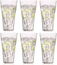 Set of 6X RCR Italian Crystal Fluente Hi-ball Tumbler Glasses- Presentatin Box