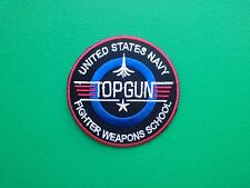 NOVELTY MILITARY U.S. NAVY SEW ON / IRON ON PATCH:- TOP GUN (a) MAVERICK TOMCAT