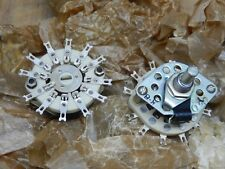 Ceramic Rotary Switch 1 pole 11 pos. New. Set of 2pcs