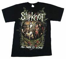 Slipknot All Hope Is Gone 2009 Tour QC-OH Black T Shirt New Vintage Men Gift Tee