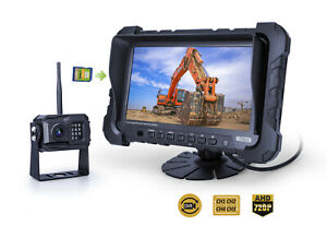 """2.4GHz AHD 720P Wireless Camera System 7"""" Quad-View Monitor Kit"""