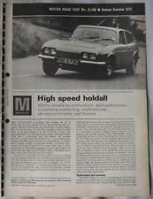 1968 Reliant Scimitar GTE Original Motor magazine Road test