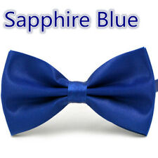 Adjustable Satin Men Tuxedo Classic Novelty Wedding Bow Tie Necktie Blue