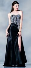 CORSET Sweetheart Rhinestones Sequins beaded Long Evening Gown prom dress $199