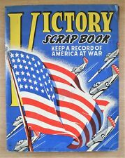 Vintage WWII Era Victory Scrapbook with Movie Star Clippings