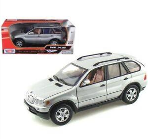 1:24 BMW X5 E53 4x4 4.4i V8 73254 E53 SUV 1999 Silver Diecast Scale Model