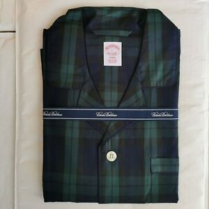 Brooks Brothers Men's Large Blackwatch Check Cotton Pyjama Set