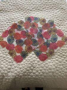 Ikea Set Of 4 Matching Plastic Placemats. Floral Design. 36 X 29cm.