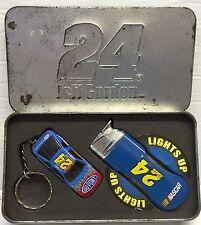 Nascar's Jeff Gordon #24 Keyring & Lighter Set in Metal Tin