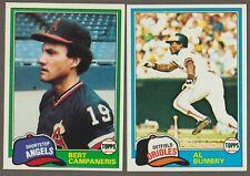 BUY 1, GET 1 FREE - 1981 TOPPS BASEBALL - YOU PICK #401 - #600 - NMMT