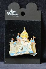 Disneyland CINDERELLA in Front of Sleeping Beauty Castle - Retired Disney Pins