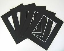 Pack of 50 Black 16x20 Mats for 12x16 Photo + Backing + Bags