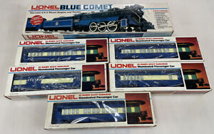 Lionel 6-8801 Blue Comet 4-6-4 Steam Locomotive W/5-Car Passenger Set Very Nice!