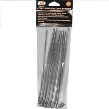"Garden and Tent Stakes 9"" Galvanized Steel Set - 10 Pieces"