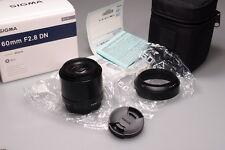 SIGMA 60mm f2.8 DN ART MICRO 4/3 LENS W/BOX