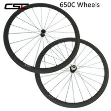 650C 38mm Carbon Road Bike Wheels Clincher Tubeless Carbon Bicycle Wheelset